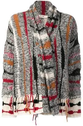 Damir Doma striped frayed cardigan