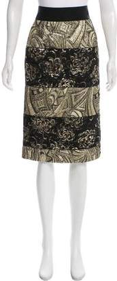Dolce & Gabbana Brocade Knee-Length Skirt w/ Tags