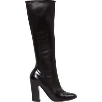 Alaia Black Leather Boots
