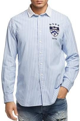 Polo Ralph Lauren Crest Striped Oxford Button-Down Shirt - 100% Exclusive