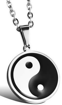 AmaranTeen - titanium steel necklace Chinese style Taiji Bagua pendant