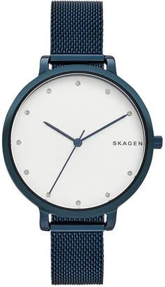 Skagen Women's Blue Stainless Steel Mesh Bracelet Watch 34mm SKW2579