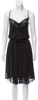 Dolce & Gabbana Lace-Trimmed Slip Dress