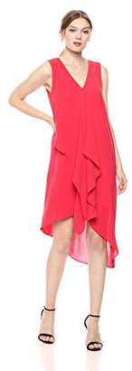 Adrianna Papell Women's Asymmetrical Front Drape Dress