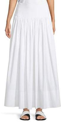 Elizabeth and James Shirley Ruched Cotton Maxi Skirt