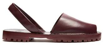 Goya - Leather Slingback Sandals - Womens - Burgundy
