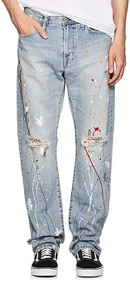 Edwin Men's Paint-Splatter Straight Jeans