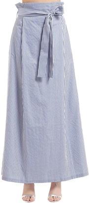 T.a.g.g. Striped Cotton Skirt