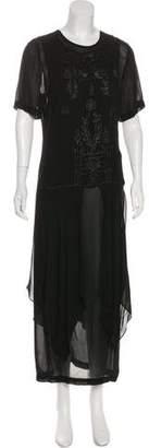 Sue Wong Chiffon Embellished Dress