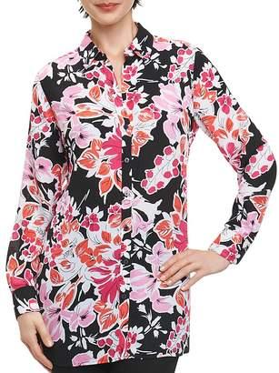 Foxcroft Jade Floral-Print Button-Down Top