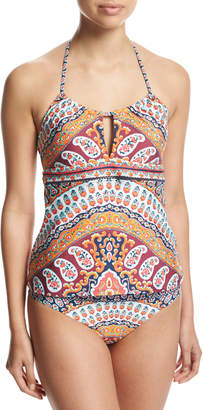 Nanette Lepore Super Fly Paisley Honey Tankini Swim Top, Multi