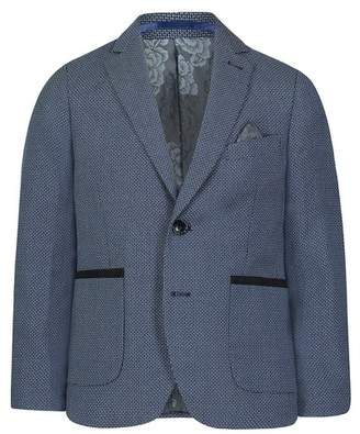 Isaac Mizrahi Birdseye Solid Two-Button Notch Lapel Blazer (Big Boys)