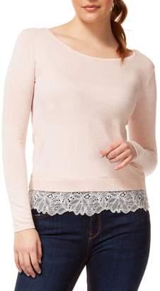 Dex Long Sleeve Boat Neck Sweater