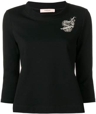 Twin-Set embroidered patch jumper
