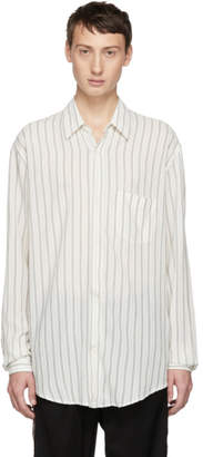 Our Legacy White Cigarill Stripe Initial Shirt