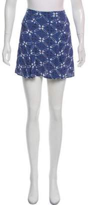 Reformation Silk Printed Mini Skirt