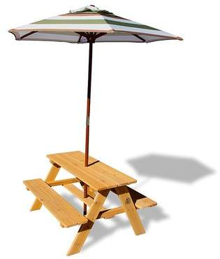 Sunset Picnic Table with Umbrella