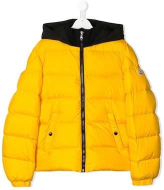 Moncler TEEN colour block padded jacket