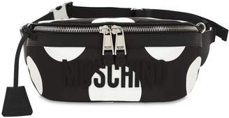 Moschino Polka Dot Printed Logo Belt Bag