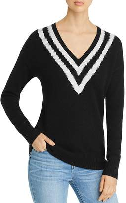 Bloomingdale's C by Varsity-Stripe Cashmere Sweater - 100% Exclusive