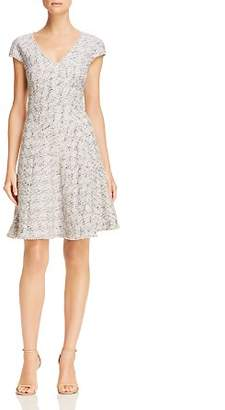 Rebecca Taylor Speckled Tweed Fit-and-Flare Dress