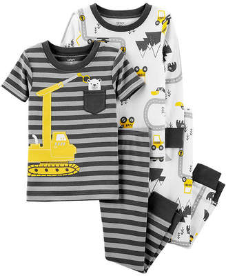 Carter's 4pc Construction Pajama Set - Baby Boy