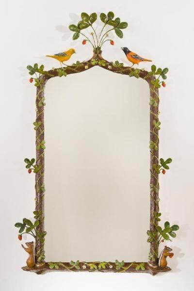 Carvers' Guild Strawberry Thief Mirror