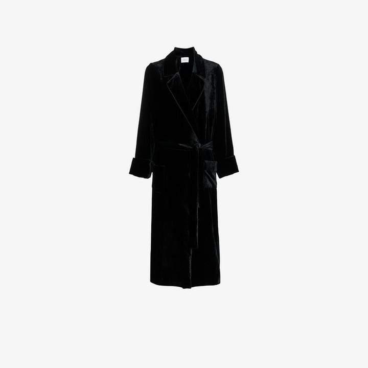 Racil tie waist velvet robe