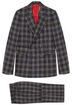 Gucci New Signoria check flannel suit