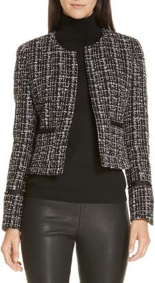 BOSS Kalali Crop Tweed Jacket