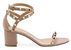 Valentino Women's Rockstud Block Heel Sandals