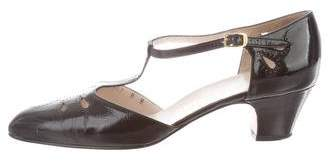 Salvatore Ferragamo T-Strap Leather Pumps