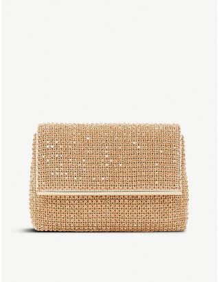Dune Rose Gold Embellished Practical Everlina Diamante-Embellished Clutch Bag