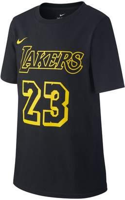 Nike Los Angeles Lakers City Edition (LeBron James Dri-FIT Older Kids'(Boys') NBA T-Shirt