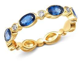 Bloomingdale's Sapphire & Diamond Oval Band in 14K Yellow Gold - 100% Exclusive