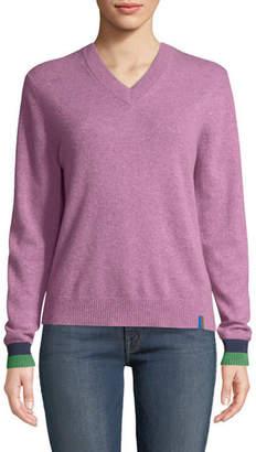 Kule Sawyer V-Neck Cashmere Pullover Top
