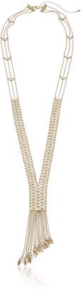 "Danielle Nicole Ivy Y-Shaped Necklace, 34"" + 4"" Extender"