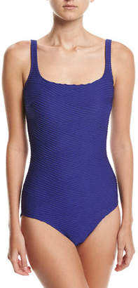 Gottex Essence Square-Neck One-Piece Swimsuit