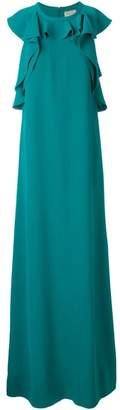 Lanvin ruffled sleeveless gown