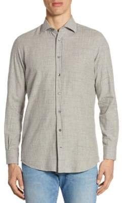 Luciano Barbera Beaded Stripe Cotton Sportshirt
