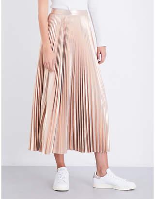 A.L.C. Bobby plissé metallic skirt