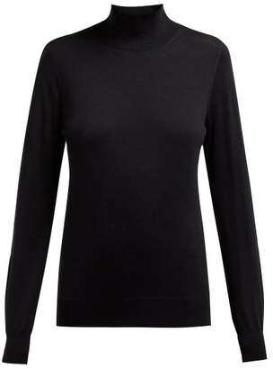 Burberry Windward Logo Intarsia Merino Sweater - Womens - Black