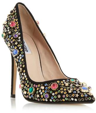 Dune - Multi Suede 'Bejewlle' High Stiletto Heel Court Shoes