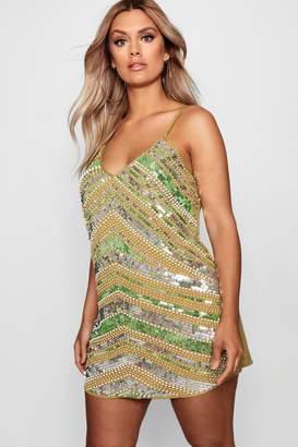 boohoo Plus Sequin Dress
