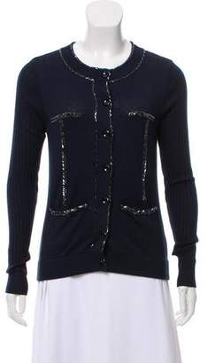 Marc by Marc Jacobs Silk-Blend Beaded Cardigan