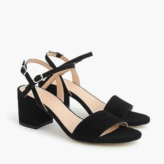 J.Crew Strappy block-heel sandals (60mm) in suede