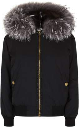 Jane & Tash Fox Fur Lined Bomber