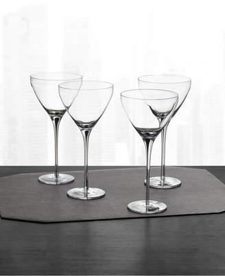 Hotel Collection Black Stem Martini Glasses, Set of 4
