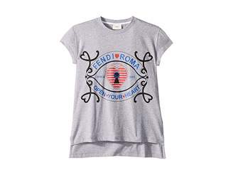 Fendi Short Sleeve Heart Lock Graphic T-Shirt (Big Kids)
