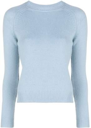 Alexandra Golovanoff ribbed crew-neck cashmere sweater blue